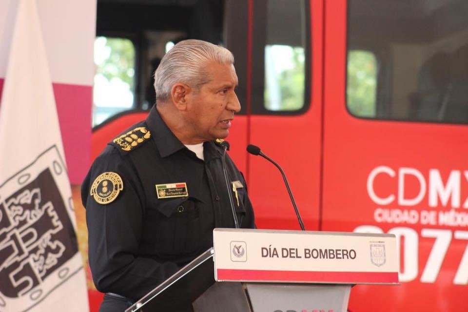 Jefe Vulcano renuncia al cargo como director de Bomberos de la CDMX