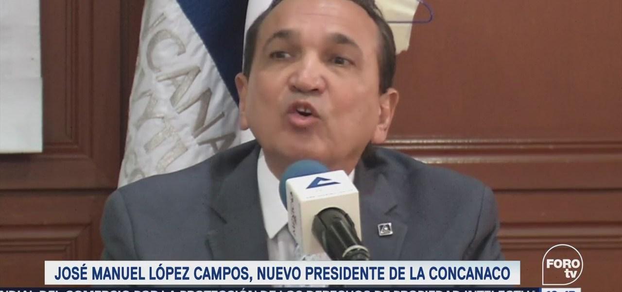 José Manuel López Campos, Nuevo Presidente Concanaco