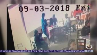 Ladrón asalta una taquería en Veracruz