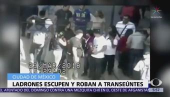 Ladrones escupen y roban a transeúntes en el Centro Histórico de CDMX