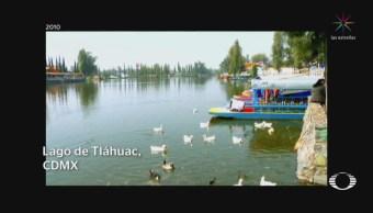 Lago de Tláhuac se queda sin agua tras sismo del 19S