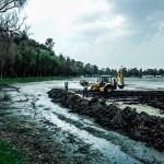 Grieta provocada por sismo seca el lago de Tláhuac