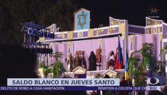 Saldo Blanco Durante Jornada Jueves Santo Iztapalapa