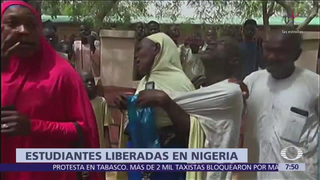 Liberan a 76 de 110 estudiantes secuestradas por Boko Haram en Nigeria