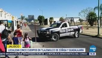 Localizan cinco cuerpos en Tlajomulco de Zúñiga y Guadalajara en Jalisco