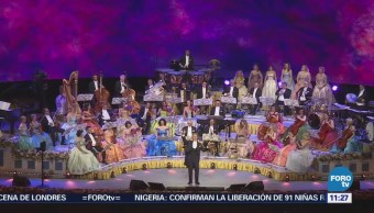 #LoEspectaculardeME: El Violinista André Rieu ofrece su primer concierto en México