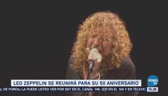 Led Zeppelin se reunirá para su 50 aniversario