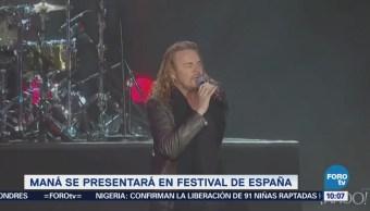 #LoEspectaculardeME: Maná se presentará en festival de España