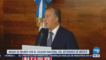José Antonio Meade Reúne Notarios