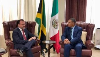 videgaray se reune con primer ministro de jamaica