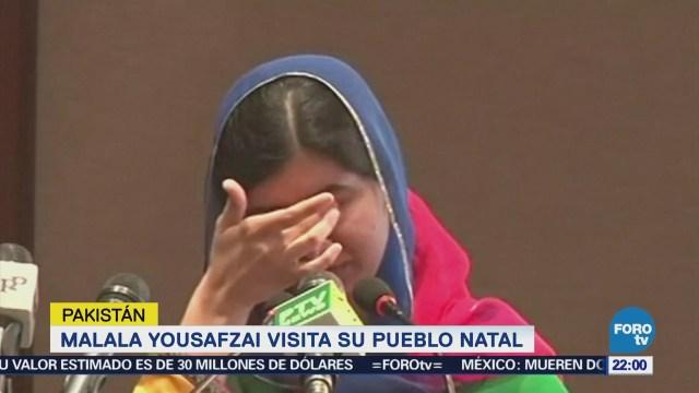 Malala Yousafzai visita su pueblo natal en Pakistán