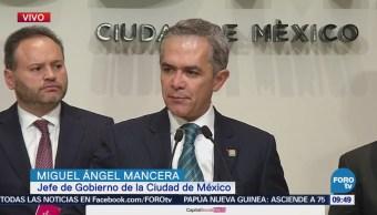 Mancera informa sobre las labores de reconstrucción en la CDMX
