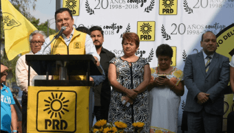 Líder nacional del PRD habla del discurso de López Obrador