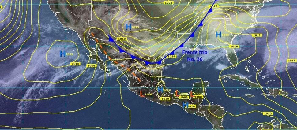 Frente frío 36 incrementará potencial de lluvias