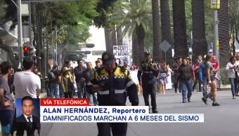 Marchan Damnificados 19s Rumbo Ángel Independencia