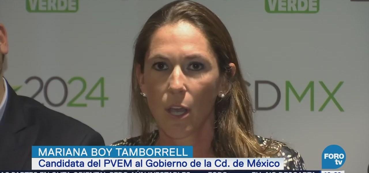 Mariana Boy Tamborrel candidata del PVEM al Gobierno de la CDMX