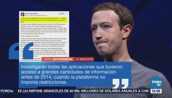 Mark Zuckerberg admite errores en protección de datos en Facebook