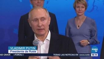 Más de 75% de votos para Vladimir Putin