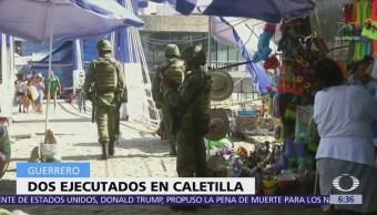 Matan a 2 hombres frente a turistas en Acapulco, Guerrero