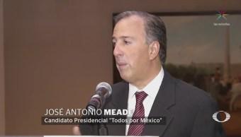 Meade vuelve a criticar a AMLO por postura del nuevo aeropuerto