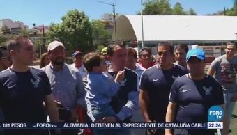 Mikel Arriola realiza actividades en Cuajimalpa