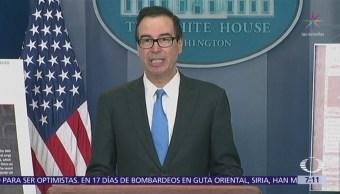 Mnuchin: México y Canadá quedarán exentos de aranceles tras firma del TLCAN