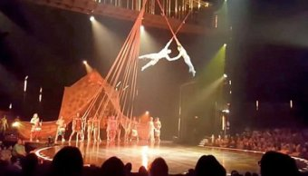 Acróbata Cirque du Soleil ensayaba acto nuevo morir