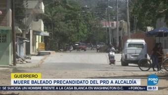 Muere baleado precandidato del PRD a alcaldía de Zihuatanejo