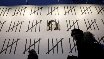 Graffiti Banksy NY defiende periodista turca