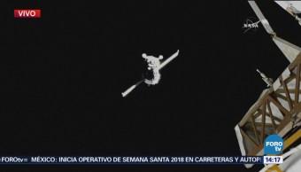 Nave Soyuz Acopla Estación Espacial Internacional