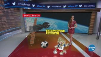 Nave Soyuz traslada balón oficial del mundial de Rusia 2018