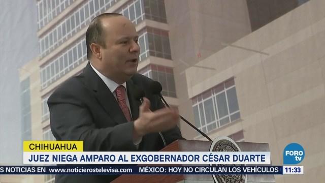 Niegan amparo al exgobernador César Duarte