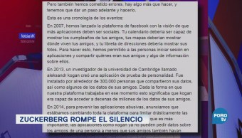 Mark Zuckerberg admite errores en Facebook