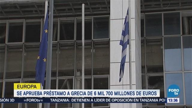 Zona Euro Aprueba Nuevo Préstamo Grecia 6,700 Millones Euros