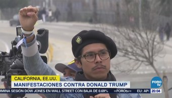 Miles Protestan Contra Trump California