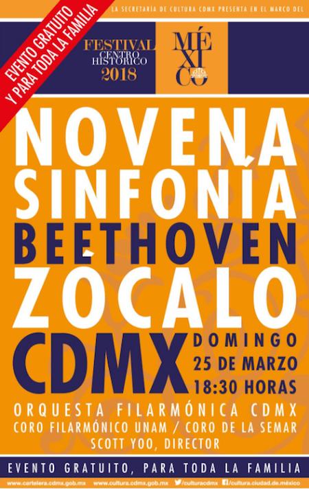 Novena Sinfonía de Beethoven en el Zócalo