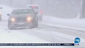 Nueva York recibe primavera con tormenta de nieve