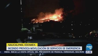 Incendio provoca movilización de servicios de emergencia en Naucalpan