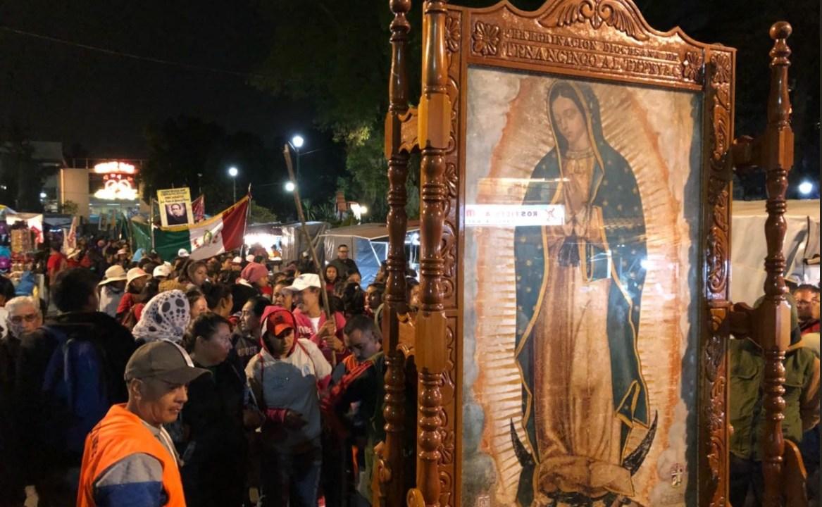 peregrinos de tenancingo llegan a la basilica
