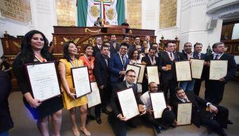 Asamblea Legislativa de la CDMX entrega medalla al mérito periodístico 2017