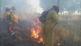 sofocan incendio en el cerro el colli en zapopan