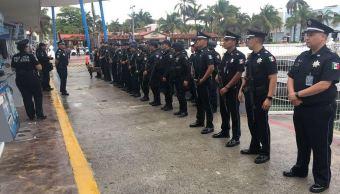 Policía Federal refuerza seguridad en ferrys de Playa del Carmen y Cozumel