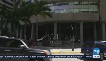 Policía Panamá Expulsa Empleados Hotel Trump