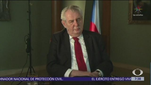 Presidente checo pide pruebas a Reino Unido sobre el caso Serguei Skripal