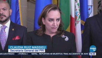 Pri Denuncia Anaya Oea Secretaria General Del Pri, Claudia Ruiz Massieu