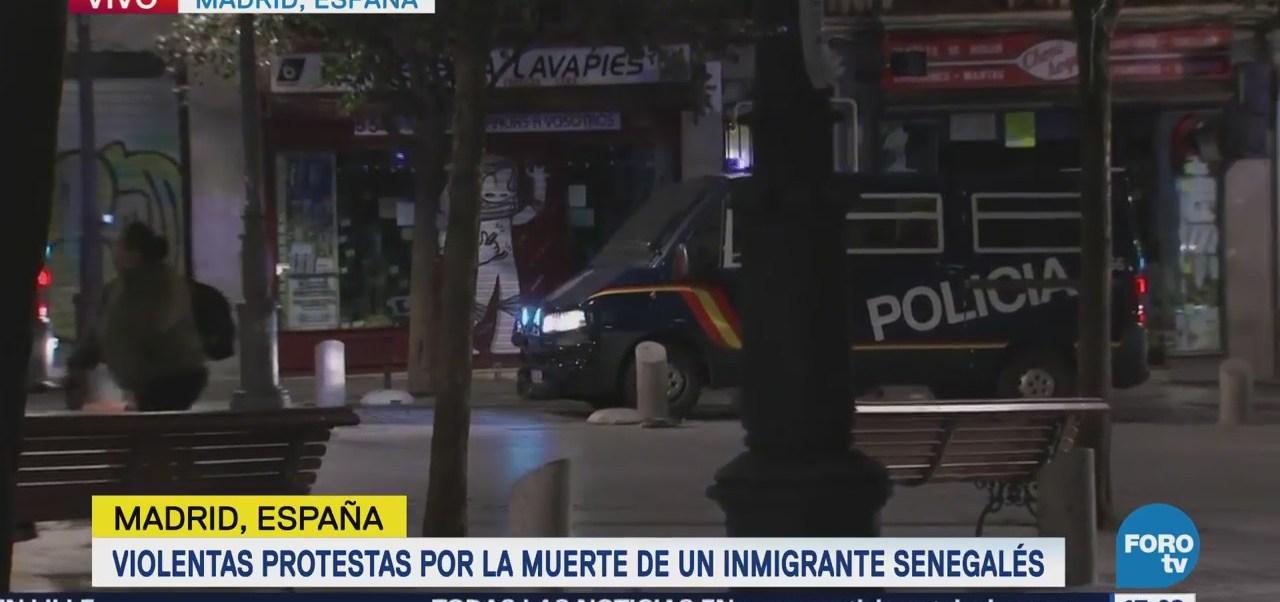 Protestan en España por la muerte de inmigrante senegalés