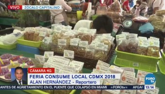 Realizan Consume Local Cdmx 2018 Zócalo Capitalino