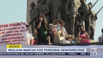 Realizan marcha por personas desaparecidas en Jalisco