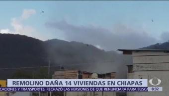 Remolino sorprende a habitantes de San Cristóbal de las Casas