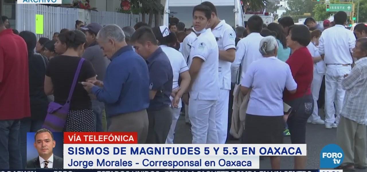 Reportan Saldo Blanco Sismos Oaxaca